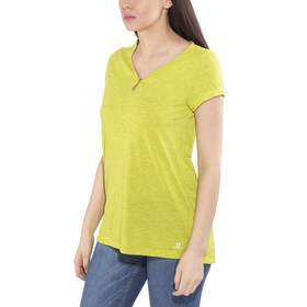 Salomon Ellipse Scoop - Camiseta manga corta Mujer - amarillo